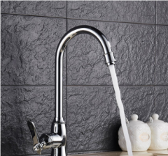 GuoJiangLong L023 Stainless Steel Kitchen Faucet Polished Chrome Kitchen Faucets Without Pb Lifetime Warranty