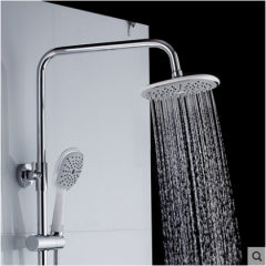 GuoJiangLong F005 Dual Function Pressure Balanced Shower Faucet with Rain Shower Head Hand Shower Slide Bar Lower Outlet of Shower Faucet
