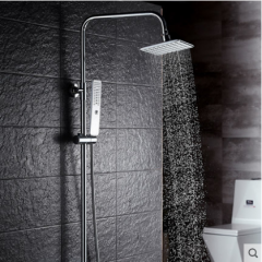 GuoJiangLong F009 Shower Faucet with Rain Shower Head Hand Shower Slide Bar Lower Outlet of the Shower Faucet