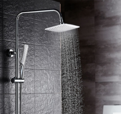 Guojianglong F010 Thermostatic Shower Faucet with Rain Shower Head Hand Shower Slide Bar 3 Function