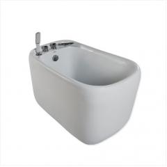 Jomoo Bathtubs Y030212 Acrylic Soaking Bathtub Freestanding Bathtubs with Waterfall Bathtub Faucet Hand Shower Baby Tub