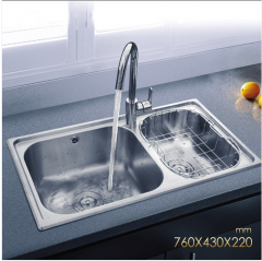 Jomoo 02094-00-Z  Double Basin Kitchen Sink Stainless Steel With Kitchen Faucets Life Time Warranty