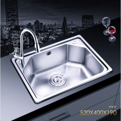 Jomoo SCZH06059D Single Basin Kitchen Sink White Kitchen Sinks With Pull Down Kitchen Faucet Lifetime Warranty