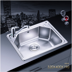 Jomoo SCZH06059B Single Basin Stainless Steel Sink For Kitchen With Kitchen Faucets Lifetime Warranty