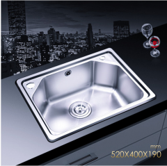 Jomoo 06059 Single Basin Kitchen Sink Stainless Steel Sink For Kitchen No Faucet Lifetime Warranty