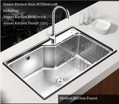 Jomoo SCZH06119B Single Basin Kitchen Sink Modern Kitchen Sink With Modern Kitchen Faucets