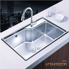 Jomoo SCZH06119D Big Single Basin Kitchen Sink Stainless Steel With Pull Down Kitchen Faucet
