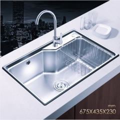 Jomoo SCZH06119C Big Single Bowl Kitchen Sink White Kitchen Sinks With Kitchen Faucets In Brushed Nickel