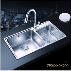 Jomoo SCZH06122C Double Bowl Kitchen Sink White Kitchen Sinks With Pull Down Kitchen Faucet