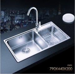 Jomoo SCZH06122B Big Double Basin Kitchen Sink Undermount Stainless Steel Sinks With Single Handle Kitchen Faucet