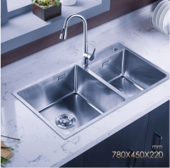 Jomoo ZH06159F Big Double Bowl Stainless Steel Kitchen Sinks With Pull Out Kitchen Taps