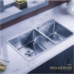 Jomoo 06159 Double Basin Kitchen Sink Countertop Kitchen Sink Without Kitchen Faucets Lifetime Warranty