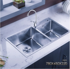 Jomoo ZH06159A Polished Chrome Kitchen Sink Combo Undermount Kitchen Sink With Modern Kitchen Faucet