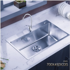 Jomoo ZH06158A Combos Brushed Chrome Single Basin Kitchen Sink Best Undermount Kitchen Sinks With Single Hole Kitchen Faucet