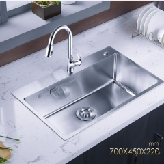Jomoo ZH06158E Single Bowl Kitchen Sink Stainless Steel Kitchen Sinks With Pull Down Kitchen Faucet