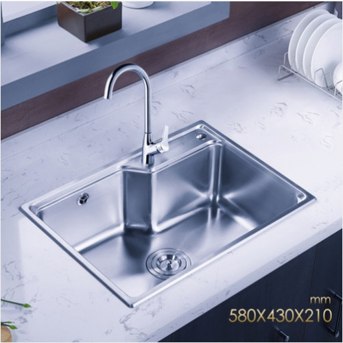 Jomoo ZH06156D Combo Single Bowl Kitchen Sink Stainless Steel With Kitchen Sink Faucets