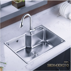 Jomoo ZH06156E Combo Big Single Basin Kitchen Sink Stainless Steel Sink For Kitchen With Pull Down Kitchen Faucet