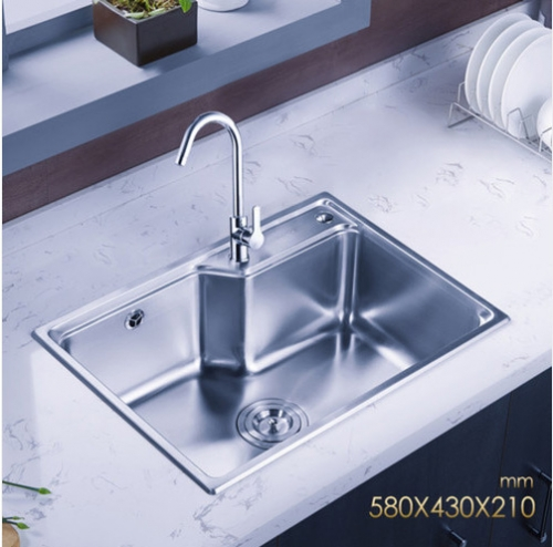 Jomoo ZH06156B Combo Single Bowl Polished Chrome Kitchen Sink Undermount Sink With White Kitchen Faucet