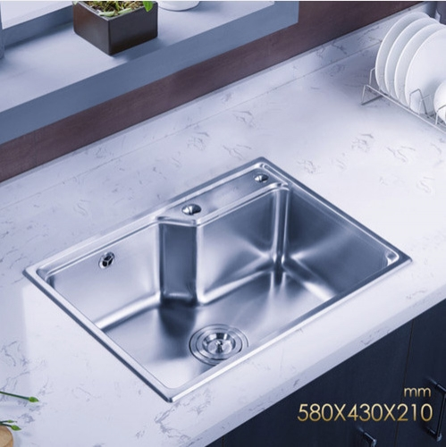 Jomoo 06156 Single Bowl Kitchen Sinks Stainless Steel Sink For Kitchen No Kitchen Faucet