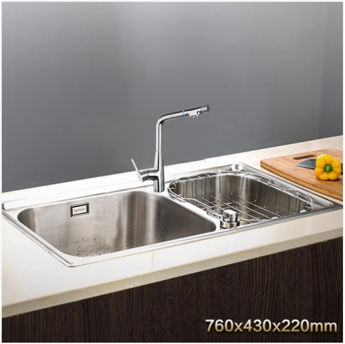 Jomoo ZH06108T-E Combo Double Basin Kitchen Sink Stainless Steel Kitchen Sinks With Purified Water Kitchen Sink Faucets
