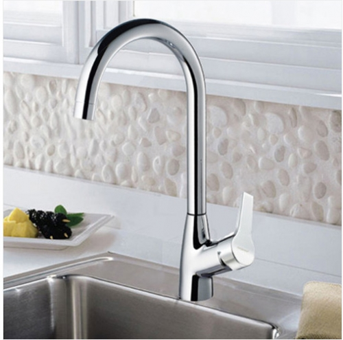 Jomoo 3325 Stainless Steel Kitchen Faucet With Swivel Spout
