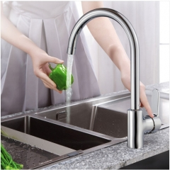 Jomoo 3336 Single Handle Kitchen Faucet With Swivel Spout