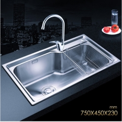 Jomoo SCZH06124A Combo Single Basin Polished Chrome Kitchen Sink Stainless Steel With Modern Kitchen Faucets