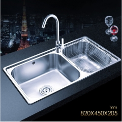 Jomoo ZH06120B Combo Polished Chrome Double Basin Undermount Kitchen Sink With White Kitchen Faucet