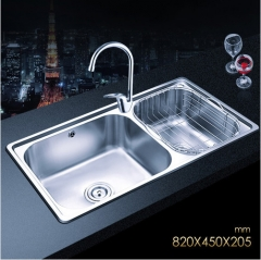 Jomoo ZH06120A Combo Double Bowl Kitchen Sink Undermount Stainless Steel Sink With Single Handle Kitchen Faucet