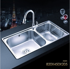 Jomoo ZH06120D Combo Double Basin Kitchen Sink Stainless Steel With Pull Down Kitchen Faucet