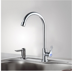 Jomoo 77020 White Kitchen Faucet With Only Cold Water Polished Chrome Kitchen Sink Faucets