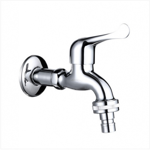 Jomoo Outdoor Faucet 7216-220 Wall Mount Laundry Faucet Brushed Nickel Bathroom Faucets With Single Cold Water Washing Machine Faucet