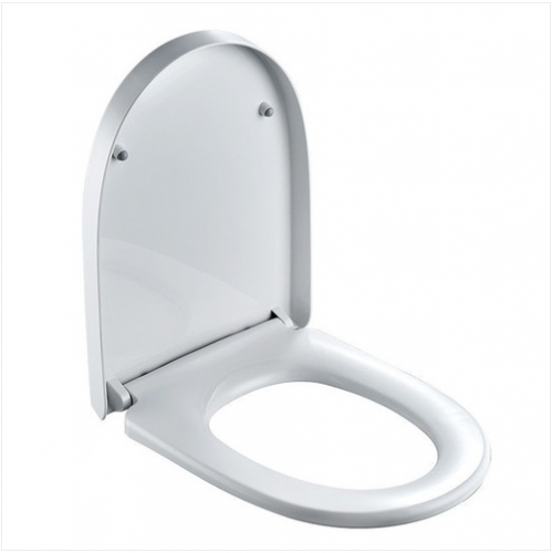 Jomoo Toilet Seat 97G1021S White Closed-Front Soft Close Elongated Toilet Seats With Quick Attach Toilet Seat Hinges