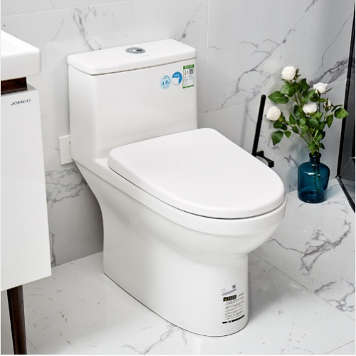 Jomoo Toilet 11250 White Ceramic Dual Flush Cheap Toilets Floor Mounted Siphon Jet One Piece Toilet With Elongated Toilet Seats