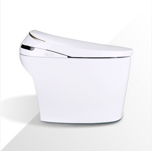 Jomoo Toilet Z1D7610S White Ceramic Elongated Toilet Seats Soft Close Siphon Jet Intelligent Bidet Toilet One Piece Toilet With Toilet Seat Warmer