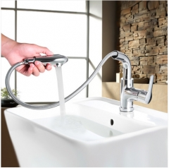 Jomoo Bathroom Faucets 32197 Single Handle Bathroom Faucet With Pull Out Sprayer Bathroom Sink Faucets