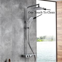 Jomoo Shower Faucet 36699-536 Dual Shower Head Pressure Balanced Shower Faucets With Rainfall Shower Head Hand Held Shower Heads Bathtub Spout