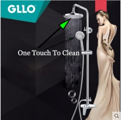 Gllo Shower Faucet GL-T39CB Dual Shower Head Pressure Balanced Shower Faucets With Shower Heads Rainfall Hand Held Shower Heads