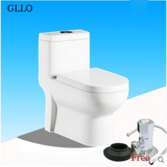 GLLO Toilet GL-T548D White Ceramic Dual Flush Toilet On Sale Siphon Jet One Piece Toilet With Toilet Seat Slow Close