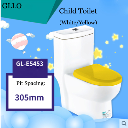 GLLO Toilet GL-E5453 Colorful Children Dual Flush Toilet On Sale Siphon Jet One Piece Toilet With Toilet Seat Slow Close