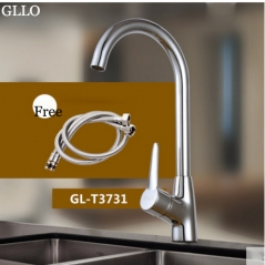 GLLO Kitchen Faucets GL-T3731 Polished Nickel Brass Kitchen Faucet Single Handle Kitchen Faucet