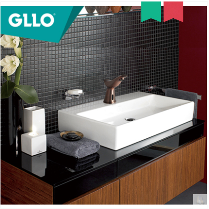GLLO Bathroom Faucets GL-S2831 Brushed Brass Touchless Bathroom Faucet Commercial Cold Water Bathroom Faucet