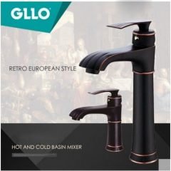 GLLO Bathroom Faucets GL-32IF Antique Brass Bathroom Faucet Polished Nickel Single Hole Bathroom Faucet