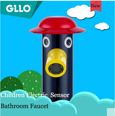 GLLO Bathroom Faucets GL-2251 Children Electric Sensor Touchless Bathroom Faucet Commercial Home Cold Water Bathroom Sink Faucets
