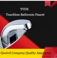 YYDE Bathroom Faucets DE-102 Cheap Bathroom Faucets Infrared Sensor Touchless Bathroom Faucet Commercial Home Hot Cold Water 3 Hole Bathroom Faucet