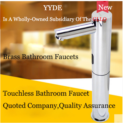 YYDE Bathroom Faucets DE-103 Cheap Bathroom Faucets Electric Infrared Sensor Touchless Bathroom Faucet Commercial Home With Hot Cold Water