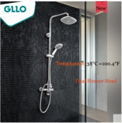 GLLO Shower Faucet GL-T32DI Walk In Shower Intelligent TempAssure Shower Faucets With Rain Shower Heads Handheld Shower Head Including Rough-In Valves