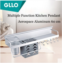GLLO Kitchen Accessories GL-TW7255 Wall Mount Multiple Function Kitchen Pendant Aerospace Aluminum Kitchen Shelf Blade Carrier