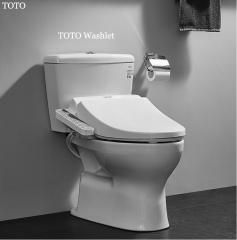 TOTO Toilets C300E1B+TCF355CS TOTO Washlet Dual Tornado Flush Stored Hot Water Intelligent TOTO Toilet Seat With Heater 1.2 GPF & 0.8 GPF