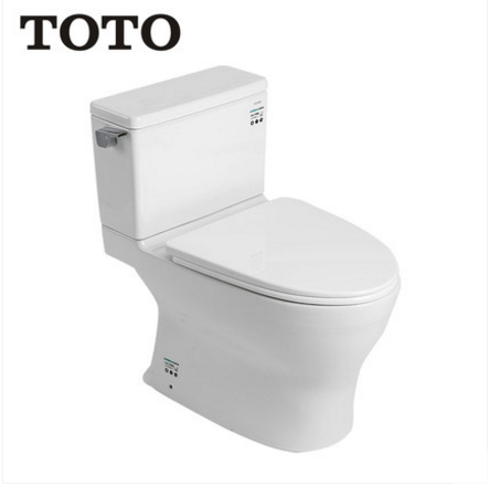 TOTO Toilets CW788B TOTO Two Piece Toilet Cefiontect Side Siphon Jet Flush With Toilet Seat Soft Close 1.0 GPF